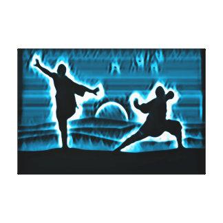 Kung Fuの戦士の精神 キャンバスプリント