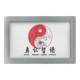Kung Fu 長方形ベルトバックル