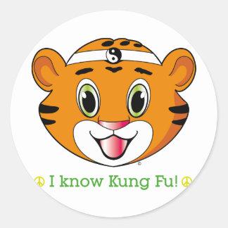Kung Fu Tiger™のステッカー ラウンドシール