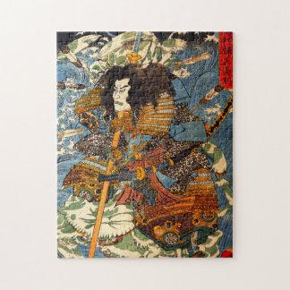Kuniyoshiの武士のパズル ジグソーパズル