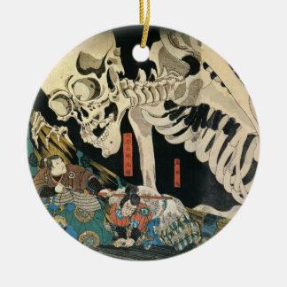 Kuniyoshi Utagawaのオーナメントによる骨組幽霊 セラミックオーナメント