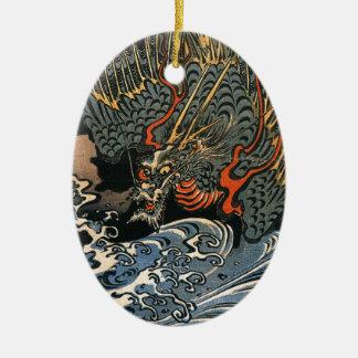 Kuniyoshi Utagawaのドラゴン2 セラミックオーナメント
