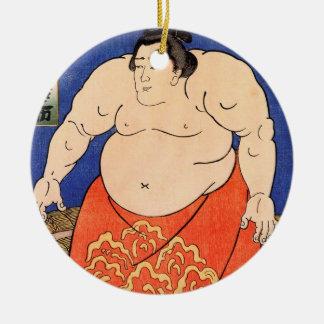Kuniyoshi Utagawa、相撲のレスリング選手 セラミックオーナメント