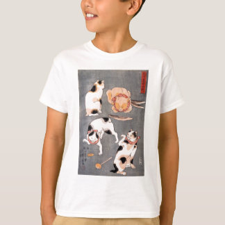 Kuniyoshi Utagawa, Four cats in different poses Tシャツ