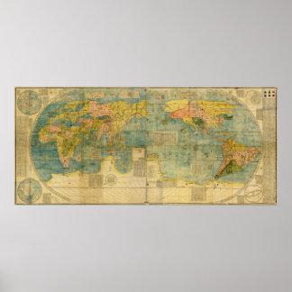 Kunyu Wanguo Quantu 1602の日本人の世界地図 ポスター