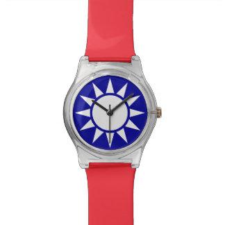 Kuomingtangの青空、白い日曜日ROC台湾の紋章 腕時計