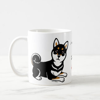Kuroの柴犬犬の漫画 コーヒーマグカップ