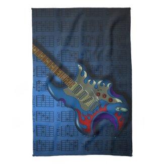 KuuMa Guitar 02 (B) キッチンタオル