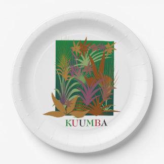 KUUMBA Kwanzaaのパーティーの紙皿 ペーパープレート