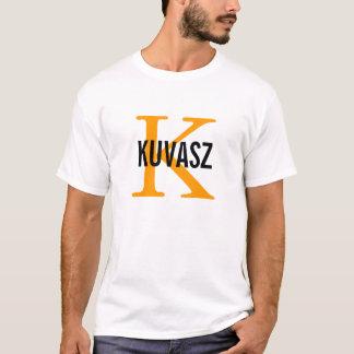 Kuvaszの品種モノグラムのデザイン Tシャツ