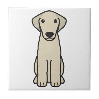 Kuvasz犬の漫画 正方形タイル小