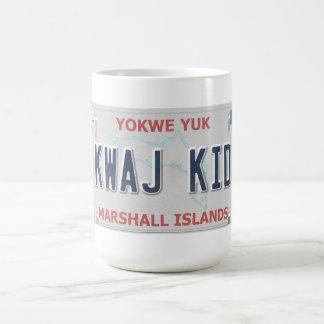 Kwajの子供の虚栄心のナンバープレートのコーヒー・マグ コーヒーマグカップ