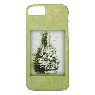 Kwanの旧式な緑のイン iPhone 8/7ケース