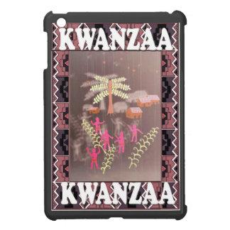 Kwanzaaのやしの下の村 iPad Mini カバー