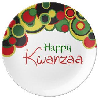 Kwanzaaのカラフルを祝って下さい 磁器プレート