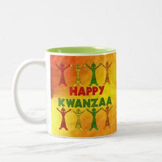 Kwanzaaのダンサー ツートーンマグカップ