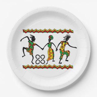 Kwanzaaのパーティーの紙皿を喜ばせて下さい ペーパープレート