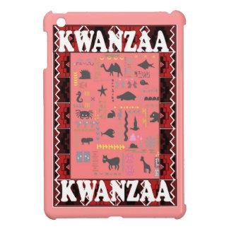 Kwanzaaのピンクアフリカ動物 iPad Mini カバー
