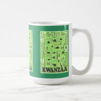 Kwanzaaのマグは、動物に会います コーヒーマグカップ