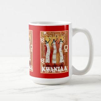 Kwanzaaのマグ、アフリカの女性 コーヒーマグカップ