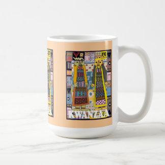 Kwanzaaのマグ、種族の人々 コーヒーマグカップ