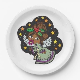 Kwanzaaの天使のKwanzaaの甘いパーティーの紙皿 ペーパープレート