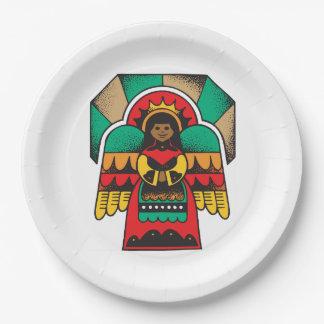 Kwanzaaの守り神のKwanzaaのパーティーの紙皿 ペーパープレート
