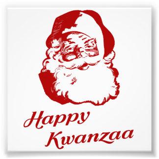 Kwanzaaの幸せなクリスマスサンタクロース フォトプリント