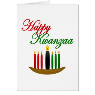Kwanzaaの幸せな休日Notecards カード