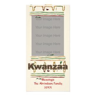 Kwanzaaの恵みの写真カード カード