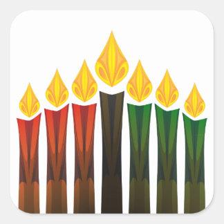 kwanzaaの蝋燭 スクエアシール