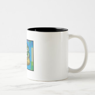 Kwanzaaの青 ツートーンマグカップ