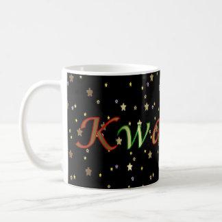 Kwanzaaの黒い金星の赤い緑のマグ コーヒーマグカップ