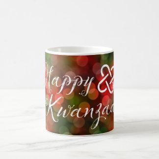 Kwanzaaの《写真》ぼけ味のUmoja幸せなライト コーヒーマグカップ