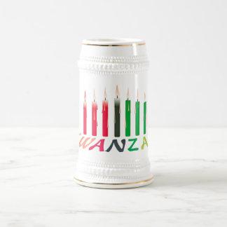 Kwanzaaはステインの良否を明りにすかして調べます ビールジョッキ