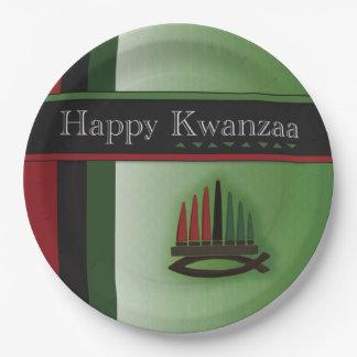 KwanzaaカラフルなKwanzaaのパーティーの紙皿 ペーパープレート