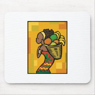 Kwanzaa女性 マウスパッド