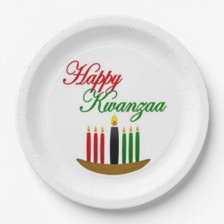 Kwanzaa幸せなKwanzaaのパーティーの紙皿 ペーパープレート