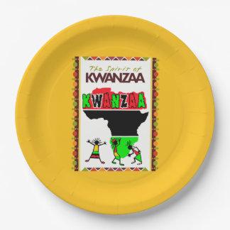 Kwanzaa Kwanzaaのパーティーの紙皿の精神 ペーパープレート
