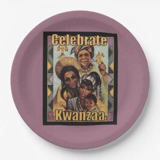 Kwanzaa Kwanzaaのパーティーの紙皿を祝って下さい ペーパープレート