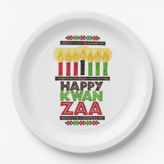 Kwanzaa Kwanzaaの挨拶によっては紙皿がパーティを楽しみます ペーパープレート