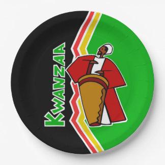 Kwanzaa Kwanzaaの音によっては紙皿がパーティを楽しみます ペーパープレート