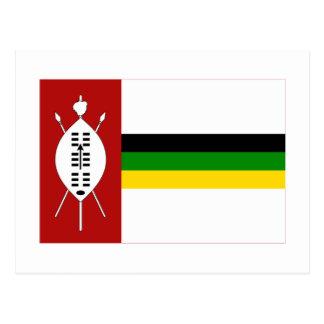 KwaZuluの旗 ポストカード