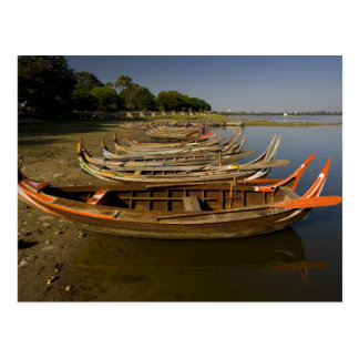 Kyauktawgyi Paya間の湖のボート ポストカード
