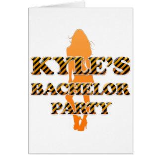 Kyleのバチュラーパーティ カード