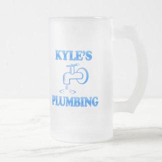Kyleの配管 フロストグラスビールジョッキ