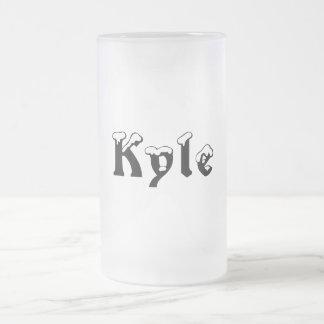 Kyle名前によってスタイル曇らされるマグ フロストグラスビールジョッキ