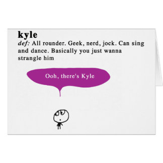 kyle カード