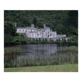Kylemoreの大修道院、Connemaraの郡ゴールウェイ、 ポスター