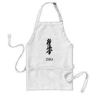 Kyokushinの空手の日本のな漢字のエプロンOSU! スタンダードエプロン